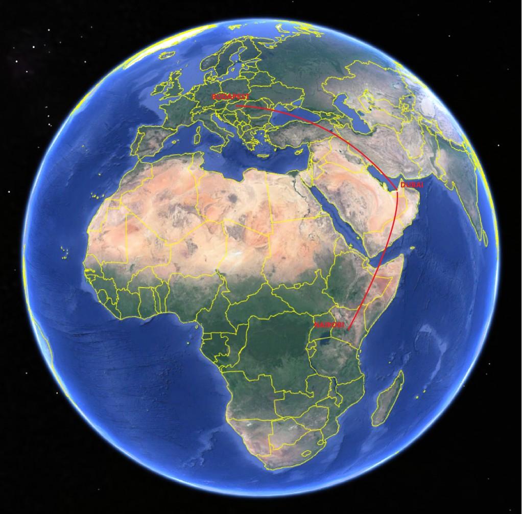 Merre is van Afrikában Kenya?
